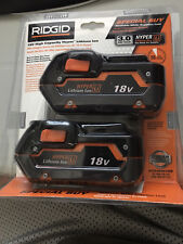 BRAND NEW FACTORY SEALED RIDGID 2 PACK 3.0AH BATTERIES WITH *FREE SHIPPING