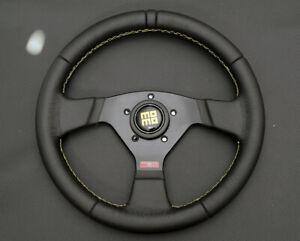 VICTOR 3L33  leather retro steering wheel Toyota trd