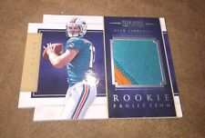 2012 Panini Prominence Ryan Tannehill 2 Color Dolphin Patch Rookie #43/49 Nice !