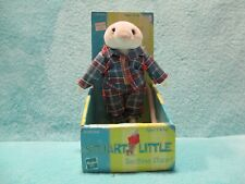 BNIB 1999 Hasbro Stuart Little - Bedtime Posable Removable outfit Soft Doll Toy