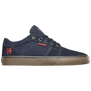 Etnies Skateboard Shoes Barge LS Navy/Gum/Gold Mens