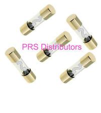 5 Pieces 50 Amps AGU Gold Plated Fuses 50Amp AGU FUSES 50A GLASS FUSES