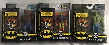 "Spin Master DC Batman Creature Chaos Manbat Killer Moth Croc 1st Edition 4"" Lot"
