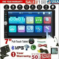 US 7inch DOUBLE 2DIN Car MP5 Player BT Tou+ch Screen Stereo Radio HD+Camera B1D9