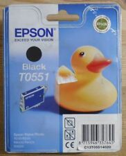 ORIGINALE Epson t0551 inchiostro BLACK PER STYLUS PHOTO r240 r245 rx420 rx425 rx520