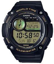 Casio Watch * CPA100-9AV Islam Hijri Calendar Prayer Alarm Black w/ Gold Resin
