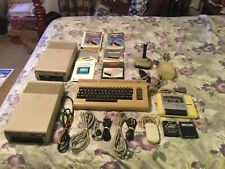 Commodore 64 Package - C64, Monitor,Tape player, 2 disk drives,488 diskettes etc
