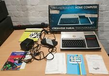 Texas Instruments TI-99/4A Home Computer + Leads,Manuals,Software Vintage - Read