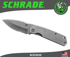 Schrade Folding Knife Heavy Duty Part Serrated 9Cr18MoV Titanium Coated SCH303S
