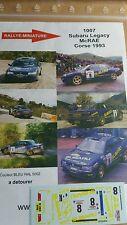 SUPER PROMO Decals 1/24 réf 1007 subaru Legacy MC Rae Corse 1993