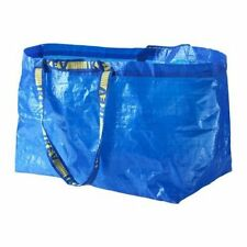 IKEA Large 2 Reusable Shopping Laundry Tote Bag Blue Grocery Groceries
