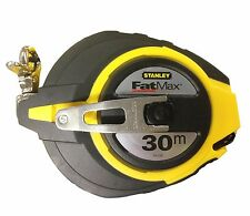 Stanley FatMax TAPE MEASURE 30m w/ 3-to-1 Gear Drive True Zero End Hook