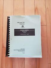 John Deere Technical Manual 650 and 750 Tractors