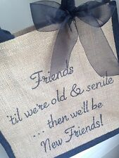 Mejor amigo de Cumpleaños Presente Regalo de Presupuesto Personalizado Bolso amistad