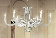 Lampadario classico 6 luci in foglia argento coll. Dese 2001-6