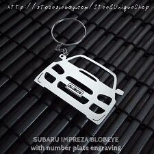 Subaru Impreza Blobeye with number plate Keychain