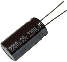 2x Condensateur électrolytique chimique LOW ESR 2200µF 35V THT Ø16x31.5mm radial