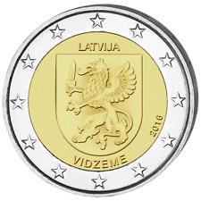 LETTONIE 2 Euro Région Vidzeme 2016 UNC