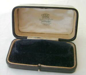 "ANTIQUE ""GIBSON & CO BELFAST"" BRACELET / WATCH LEATHER JEWELLERY BOX"