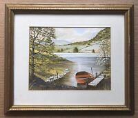 Original Art Watercolour Painting Of Rydal, Lake District Cumbria By HP Gardner