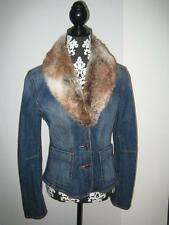 Jeansjacke Jacke Esprit mit abnehmb. Kunstfellkragen Gr. 38 wneu