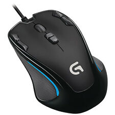 New Logitech G300s Optical Gaming Grip Mouse Wired PC Computer Black 910-004360