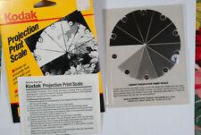 Vintage Kodak Projection Print Scale With Instructions for Darkroom Enlarging