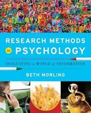 Research Methods in Psychology : Evaluating a World of Information by Beth Morl…