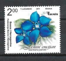 Bosnie  2011 fleurs Gentiane neuf ** 1er choix