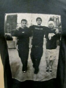 VTG BLINK 182 CONCERT T SHIRT, 2002, POP DISASTER TOUR BAND PHOTO DOUBLE SIDED
