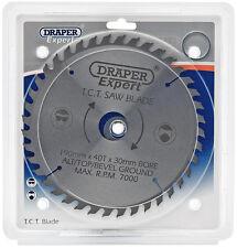 Draper Expert Circular Saw  TCT Blade 190mm x 30mm x 40T. Rip & Cross Cut 09475