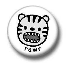 Rawr 1 Inch / 25mm Pin Button Badge Cute Scary Tiger Monster Lion Roar Funny