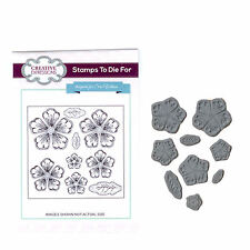 Stamps to Die For by Sue Wilson UMS633 Shaded Peony