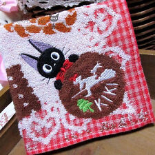 Japan Kiki's Delivery Service Black Cat Hand Face Towel Cotton 25*25cm  #1