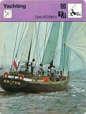 FICHE CARD Kriter II & III Olivier Kersanson  & Jacques Grout  Voilier Yacht 70s