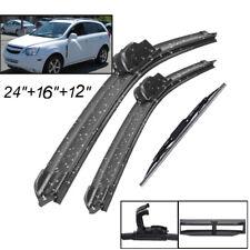 3Pcs Front Rear Wiper Blade Set For Chevrolet Captiva Sport 2012-2014 12 13 14