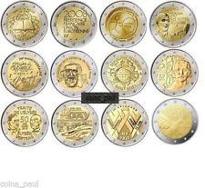 France 2 euro 12 coins 2007 - 2015, UNC Francia Frankreich Франция FDC мир