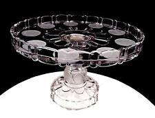 "EAPG ORIGINAL CENTRAL GLASS US COIN SILVER AGE FROSTED COIN 10"" CAKE STAND 1892"