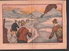 Glacier Ober-gurgl Obergurgle Obergurgl Gurgler Tyrol Autriche 1932 ILLUSTRATION