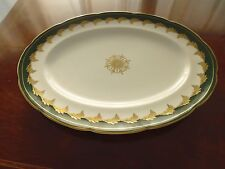 "Foley Green & Gold Meat Plate (10"" x 13"")"
