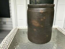 ANTIQUE Primitive J. H. Sonner Strasburg VA  mark jar 1/2 gallon Crock Stoneware