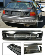 For 92-95 Honda Civic EG6 3Dr OE Factory Rear Carbon Fiber Trunk Lid W/ Key Hole