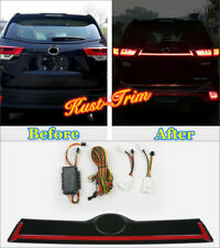 For Toyota Highlander 2015-2019 LED Rear Reserve box  tail lamp decorative strip