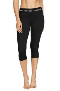 Micro Capri-  3/4 Leggings- Womens Yoga & Gym - Black- Bonds - 40% off RRP- New