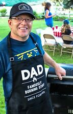 Dad Burning Stuff Cooking BBQ Funny Apron Gift for Dad or Grandpa by ApronMen