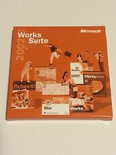 Microsoft Works Suite 2002 - Word - Money - Encarta - Streets Trips - Picture It