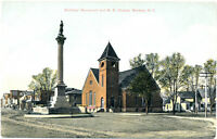 WARSAW NY – Soldiers Monument and M. E. Church