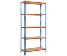 Librerías y estanterías azules de metal para el hogar