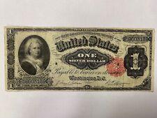 Series 1891 United States $1 Silver Dollar Certificate Martha Washington Note
