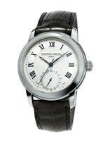 Frederique Constant Men's Automatic Black Leather Band 42mm Watch FC-710MC4H6